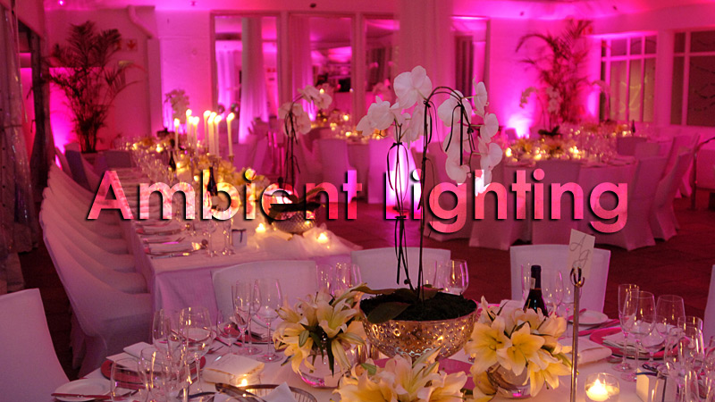 LED Lighting and lighting hire for events and weddings
